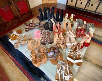 Awesome shoe selection. Booties, sandals heels, flip flops and sneakers!