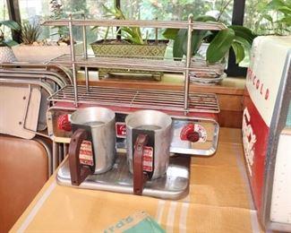 Vintage Campbell's Soup Dispenser & Sales Rack