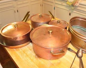 Vintage Copper Pots & Pans