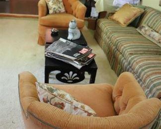 Hollywood Regency Swivel Barrel Chairs