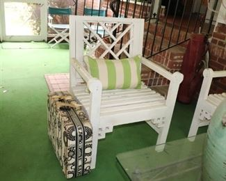 Vintage Chippendale Wood Chair