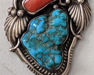 Native American Sterling Pendant