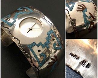 Native American Sterling Watch