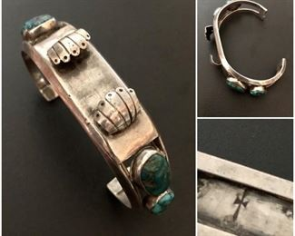 Native American Sterling Watch Band