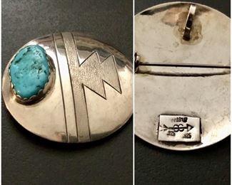 Native American Sterling Pin/Pendant
