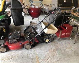 Toro self-propelled mower, ice pal Lake manufacturing company Lansing Michigan