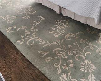 9' x 12' wool/viscose rug from Restoration Hardware $100