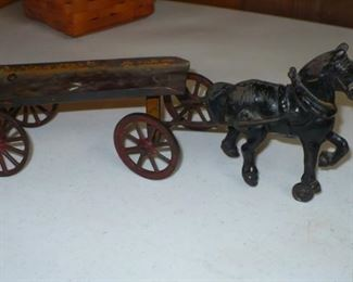 ANTIQUE HORSE AND WAGON