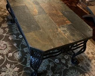 Marble top coffee table (NICE!)