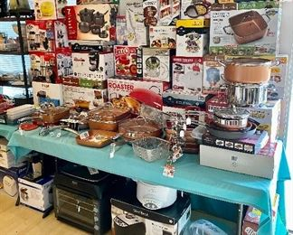 Brand new in the boxes cookware, pots and pans,