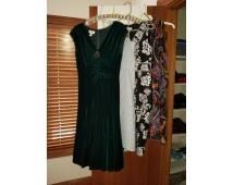 Dresses Black and White Skirt size 6, Purple Express Dress size 5/6, Maggy London size 4 Black Dress and Ann Taylor size 4 Brown and White Dress. Very good Condition