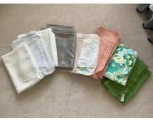 Assorted Linens Tablecloths in assorted sizes, Good Condition, mostly larger sizes
