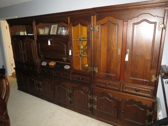 6 PIECE CABINET.  AVAILABLE FOR EARLY SALE IN 3 SEPARATE SECTIONS.