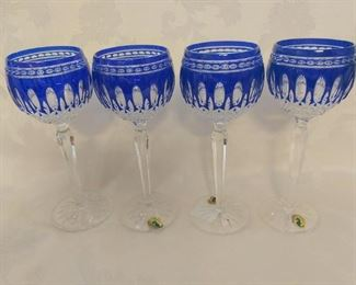 Waterford Clarendon Cobalt Wine Glasses - 2 Pair