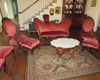 Original Victorian parlor set