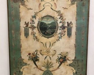 Decorative French Country Painted Wood Panel