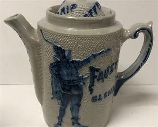 Flemish Blue Faust Blend Coffee Pot