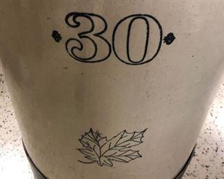30 Gallon Western Stoneware Crock/Funnel