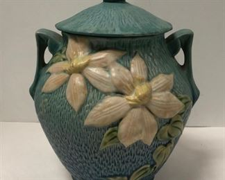 """""""Clematis"""" Roseville Pottery Cookie Jar"""