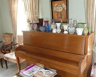 Piano, Sheet Music & Glassware