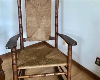 Vintage Cain Rocker Chair