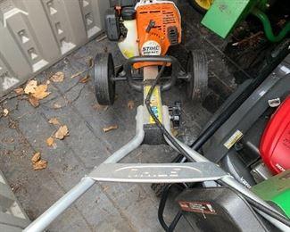 Stihl MM 55C Yard Boss Multi Task Garden Equipment: Cultivate, edge, aerate, dethatch