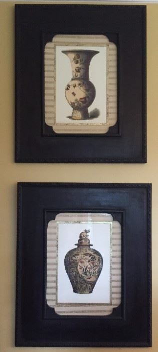 Matching framed prints.