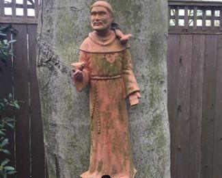 Hanging garden statue.