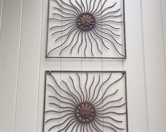 Metal wall hangins.