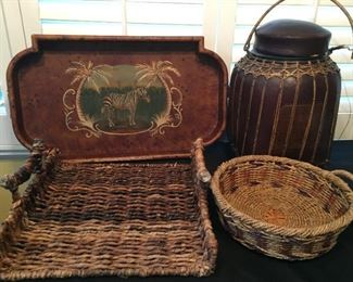 Asian style baskets and trays.