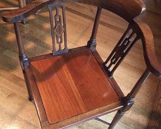 Antique Corner Chair.