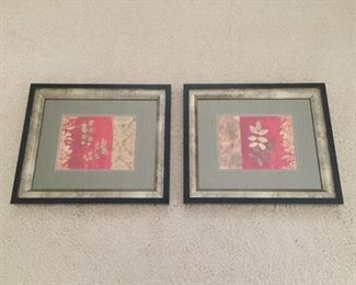 Matching framed Asian style prints.