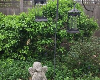 Beautiful outdoor furniture, pots and Garden statues.