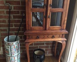 Very nice curio cabinet.
