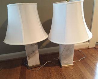 Matching lamps.