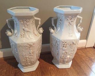 Matching decorative urns.