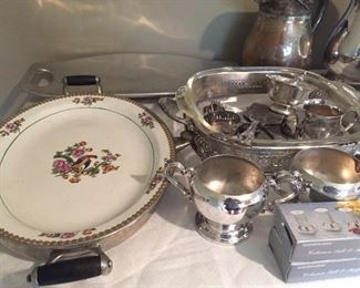 Silverplate items.