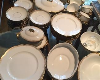 Complete set of D&C Limoges china from France.