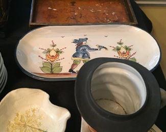 Toby Mug and decorative items.