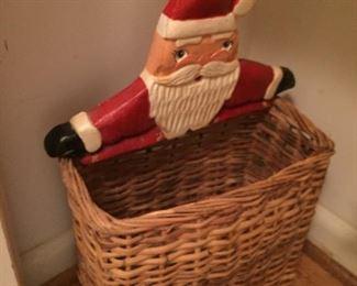Santa basket.
