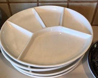 Set of white divider plates.
