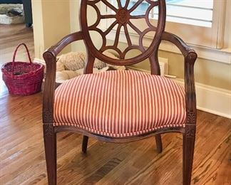 Very nice pair of side arm chairs
