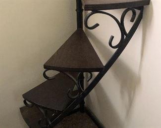 Curio stair shelf