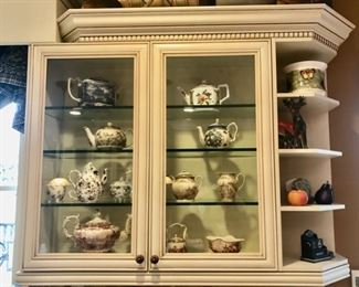 Collection of vintage tea pots