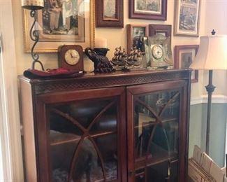 Display cabinets & original art