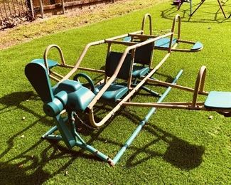 Amazing outdoor metal plane playground teeter totter by Lifetime