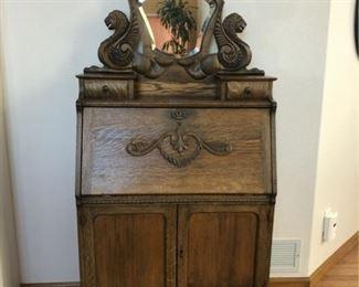 antique fold down secretary desk