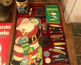 Knives , rook cards ,Santa books