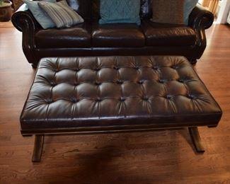Bassett Leather Madrid Ottoman