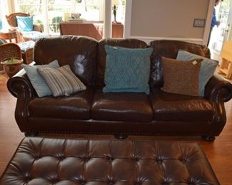 Bassett Leather Hamilton Sofa